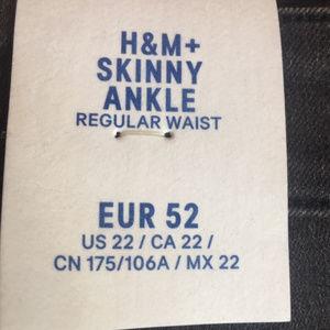 H&M Jeans - H&M Dark Gray  Distressed Skinny Ankle Jean